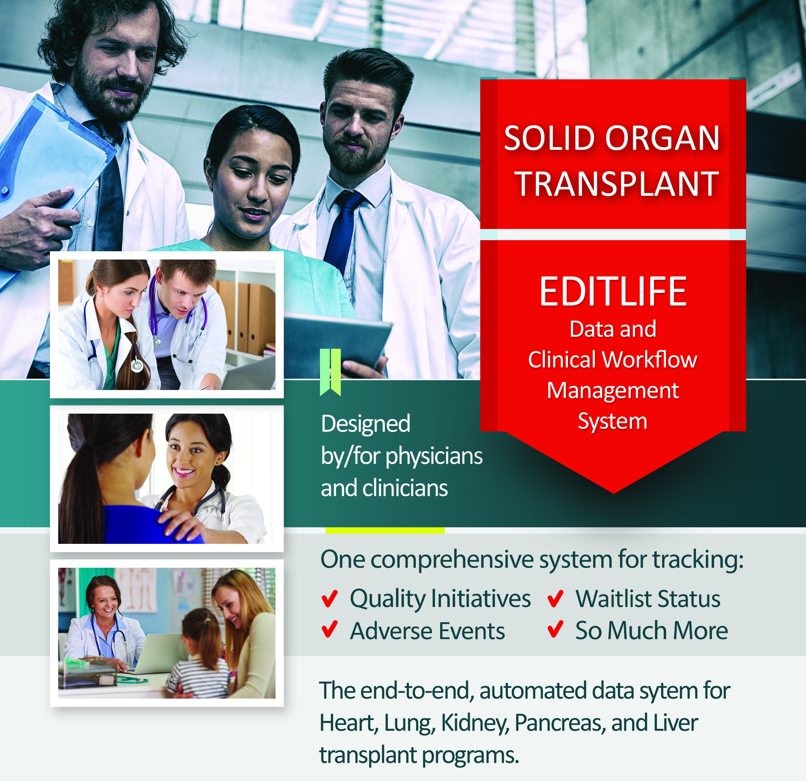 EDITLife for Solid Organ Transplant